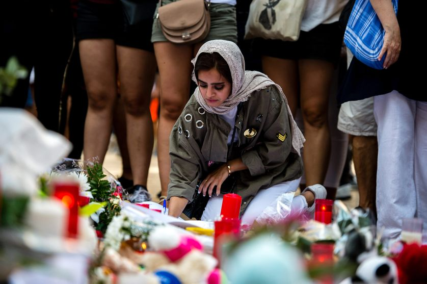 ESPAGNE - Mémorial en hommage aux victimes de Las Ramblas à Barcelone