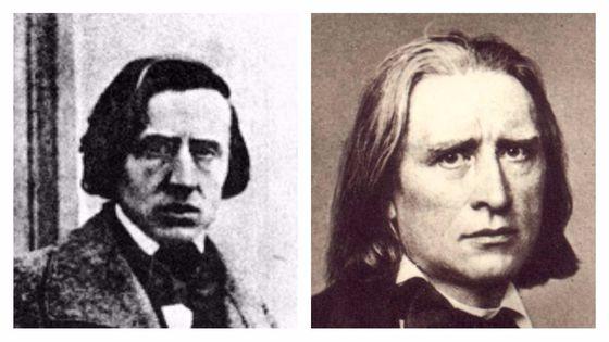 Frédéric Chopin en 1849, par Louis-Auguste Bisson (photographe)  / Franz Liszt