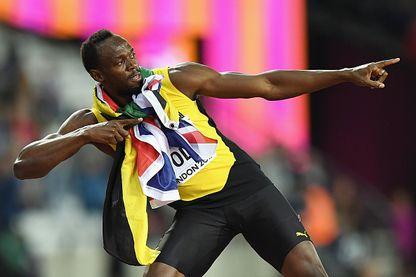 Usain Bolt le 5 août 2017 lors des Championnats du Monde d'Athlétisme