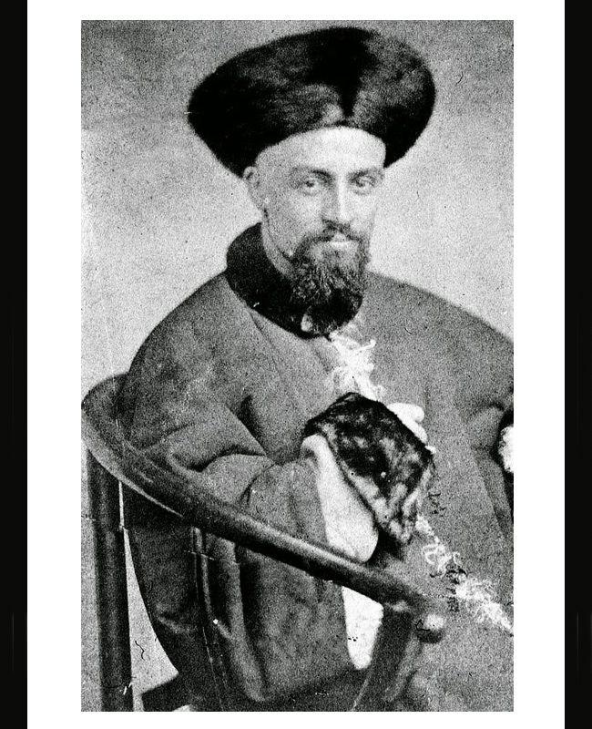 Le Père Armand David en habits de fonctionnaire sous la Dynastie des Qing, le 2 août 1872   (via panda.fr)