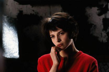 """Juliette Binoche sur le plateau de """"Mauvais Sang"""" de Leos Carax, 1986"""