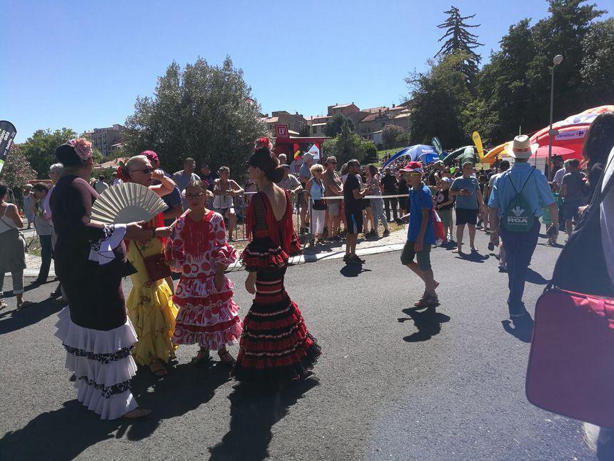 Ambiance flamenco près du podium signatures