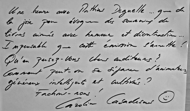 La dédicace de Caroline Casadesus