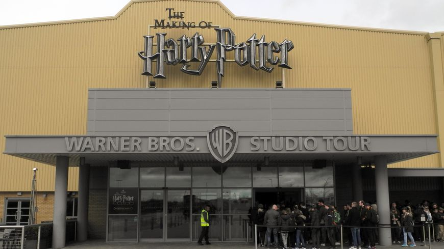 L'entrée des studios Harry Potter dans la banlieue de Londres