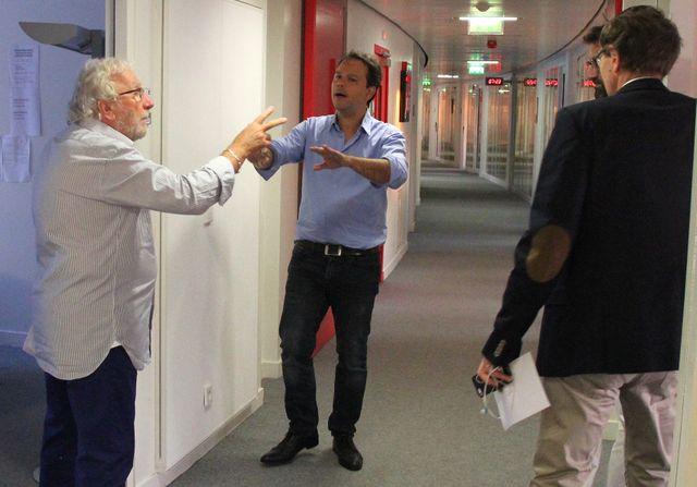 Jacques Vendroux, Marc Fauvelle et Dominique Seux