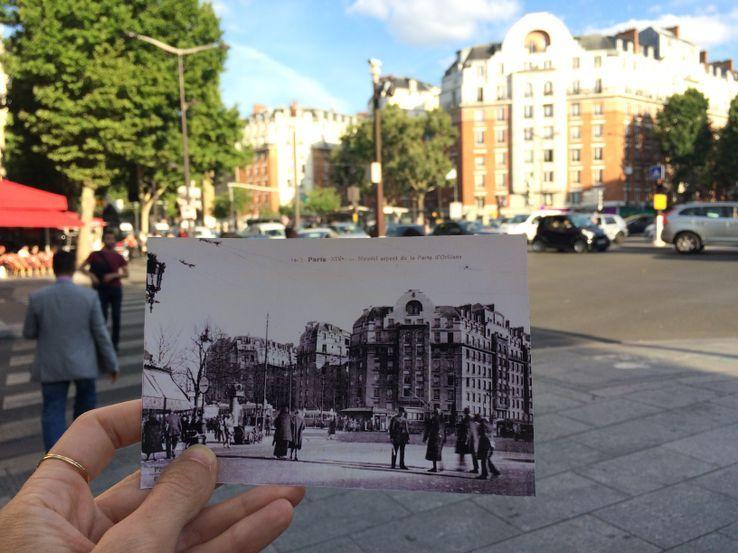 La Porte d'Orléans hier et aujourd'hui.
