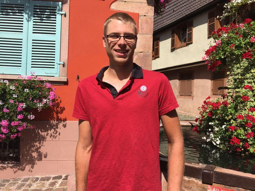 Xavier Simon, président du syndicat viticole de Saint-Hippolyte