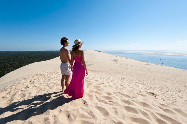 Sur la dune du Pilat, entre terre et mer