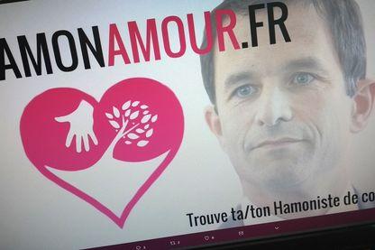 """Capture du compte """"Hamon Amour"""" sur Twitter"""
