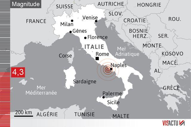 Le séisme a frappé l'île d'Ischia, au large de Naples. Son épicentre était situé à trois kilomètres au nord des côtes.