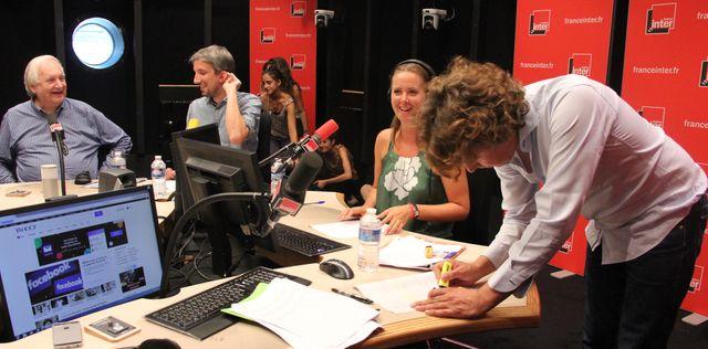 Noël Godin, Guillaume Meurice, Charline Vanhoenacker et Alex Vizorek