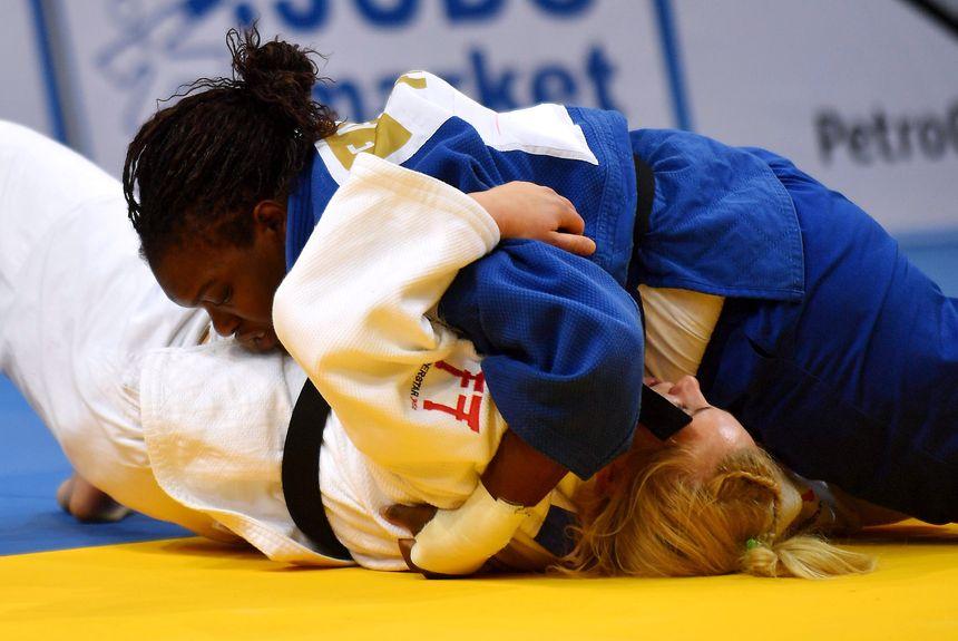 Emilie Andéol lors des derniers championnats d'Europe à Varsovie.