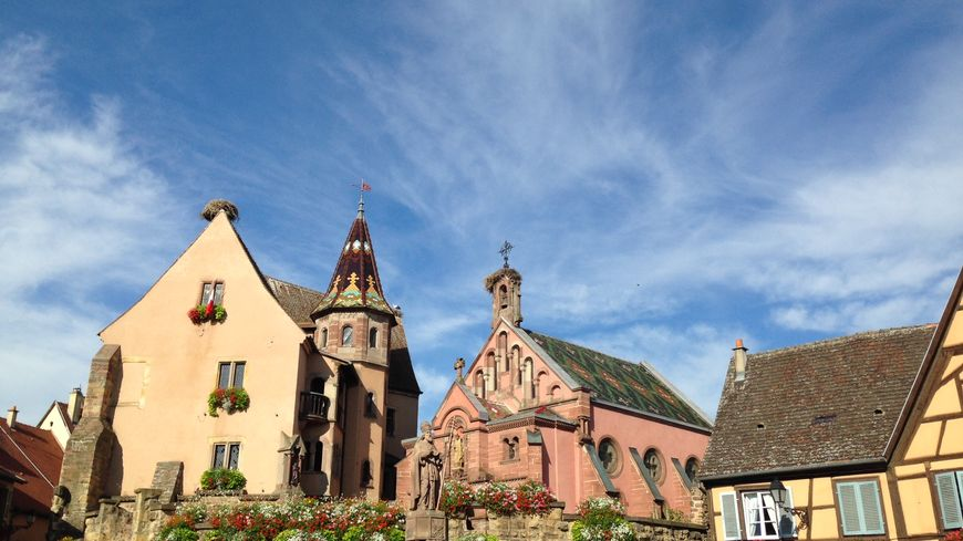 La Place du Château, à Eguisheim