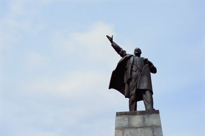 Statue de Lénine à Saint-Petersbourg