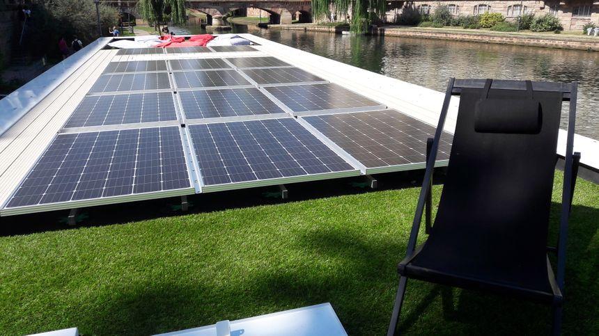 Le prototype de Boathome exposé à Strasbourg, en août 2017