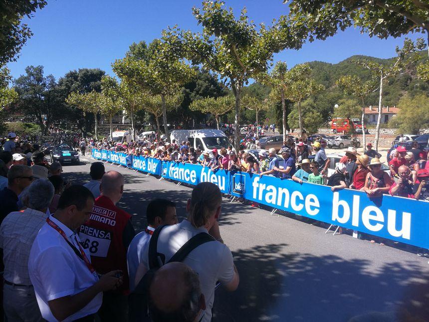 La ligne de départ... aux couleurs de France Bleu !