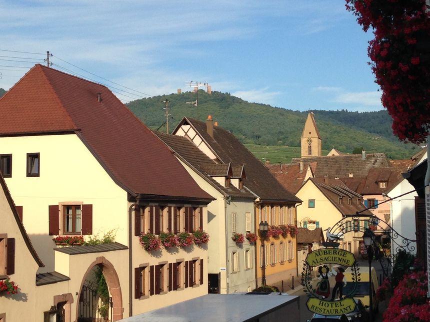 Il faisait beau ce matin à Eguisheim. Quoiqu'un peu frisquet