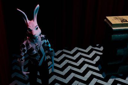 Image extraite du jeu vidéo en réalité virtuelle tiré de l'univers d'Alice au pays des merveilles de Lewis Caroll