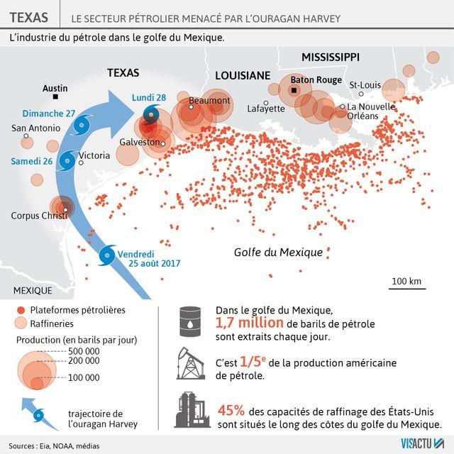 1/5ème du pétrole américain est produit dans le golfe du Mexique