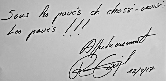 La dédicace de Romain Goupil
