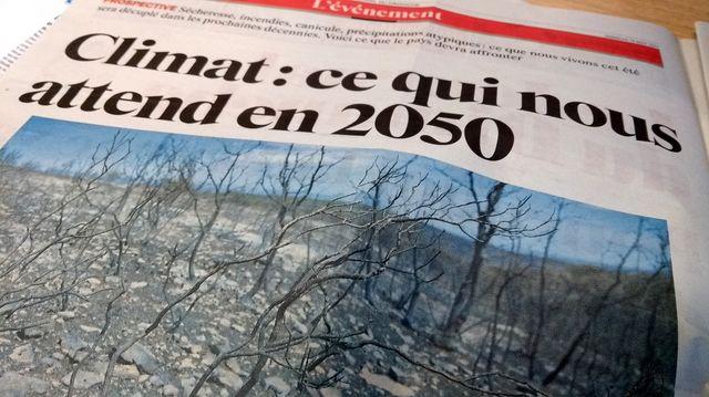Extrait du dossier sur le climat dans le Journal du Dimanche - photo Olivier Bénis