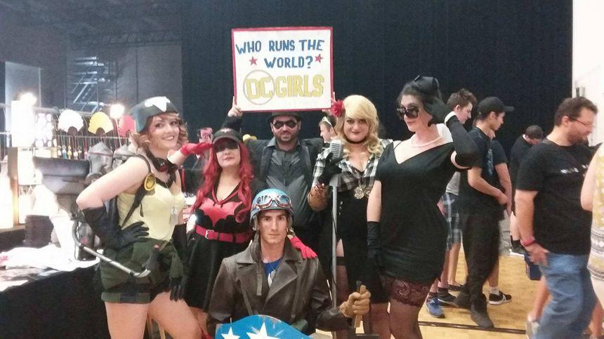 Le groupe des DC girls venues exprès de Grenoble.