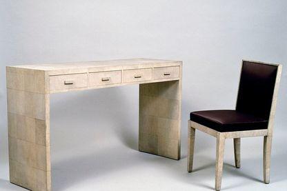 Bureau et chaise style Art Déco (1920-1930) de Jean-Michel Frank (1895-1941)