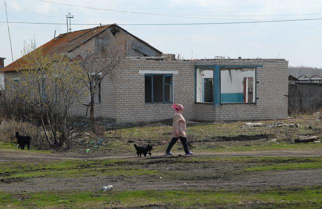 Dans le village irradié de Muslymovo (en 1957), les habitants n'ont pas été évacués (photo prise en 2010)