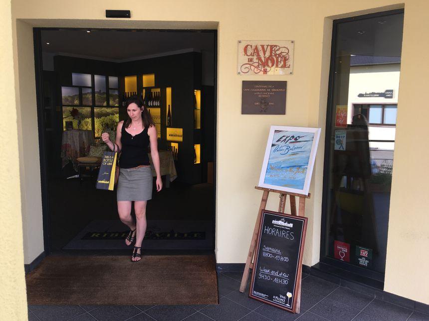 L'entrée de la cave vinicole