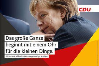 L'une des affiches de la campagne Merkel