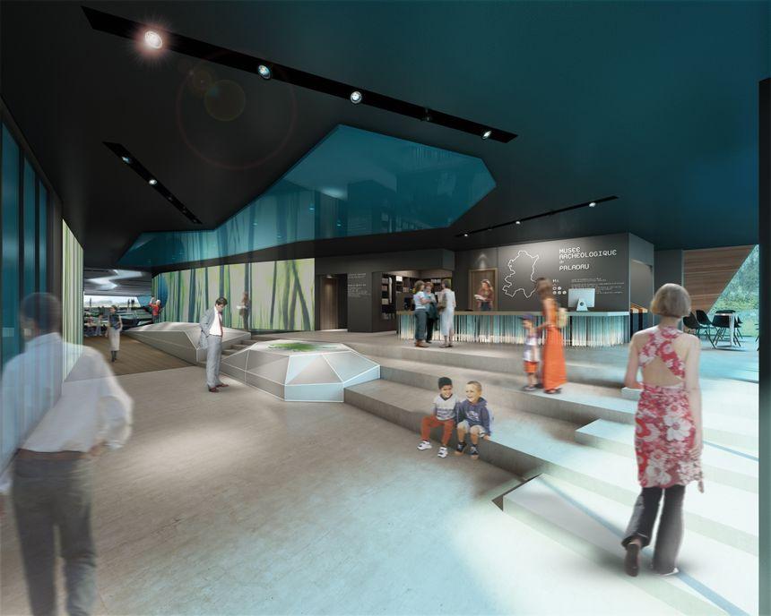 Vue de l'accueil du futur Musée du lac de Paladru