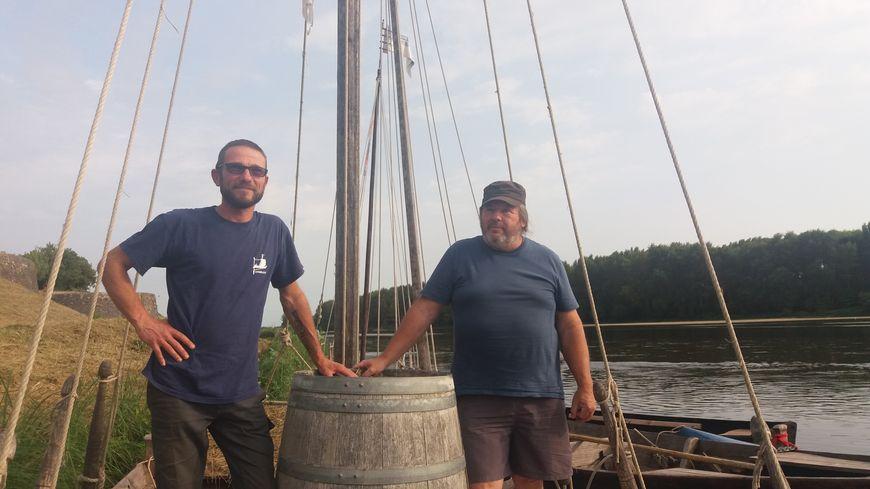 Eric Augot et Philippe Delaunay, les mariniers de l'association Escapades Ligériennes