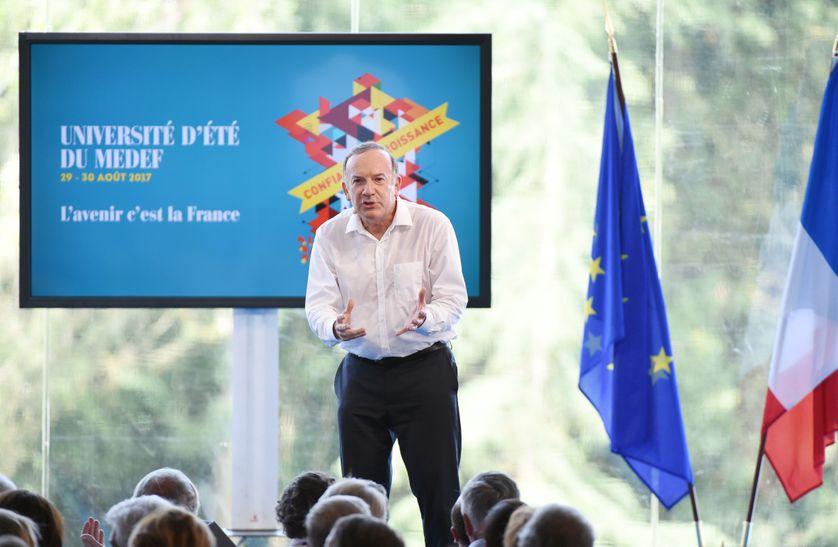 Le président du Medef, Pierre Gattaz a délivré un discours intimant à Emmanuel Macron de ne rien lâcher.