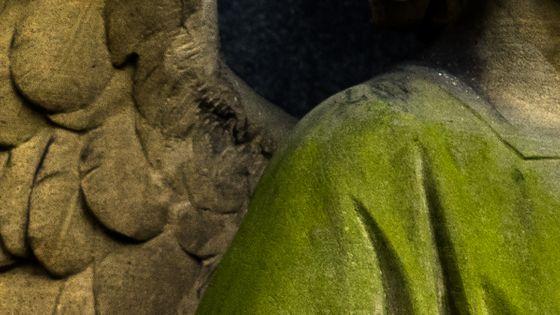 Détail statue d'ange, Berlin