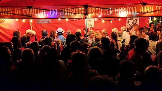La sortie d'un concert au festival de Chaillol