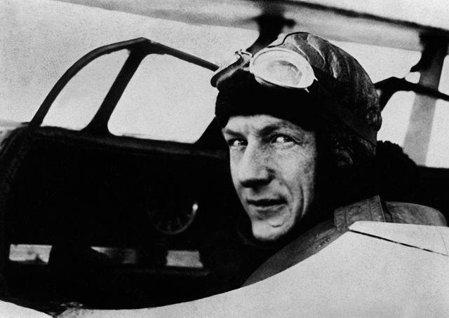 Charles Nungesser à bord de L'Oiseau Blanc en mai 1927