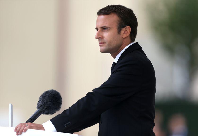 Emmanuel Macron lors d'un speech fin juillet 2017