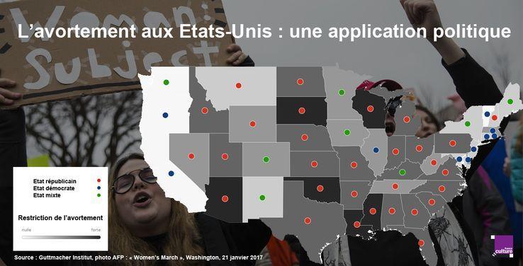 Onde está a posibilidade de abortar nos Estados Unidos, Estado por estado