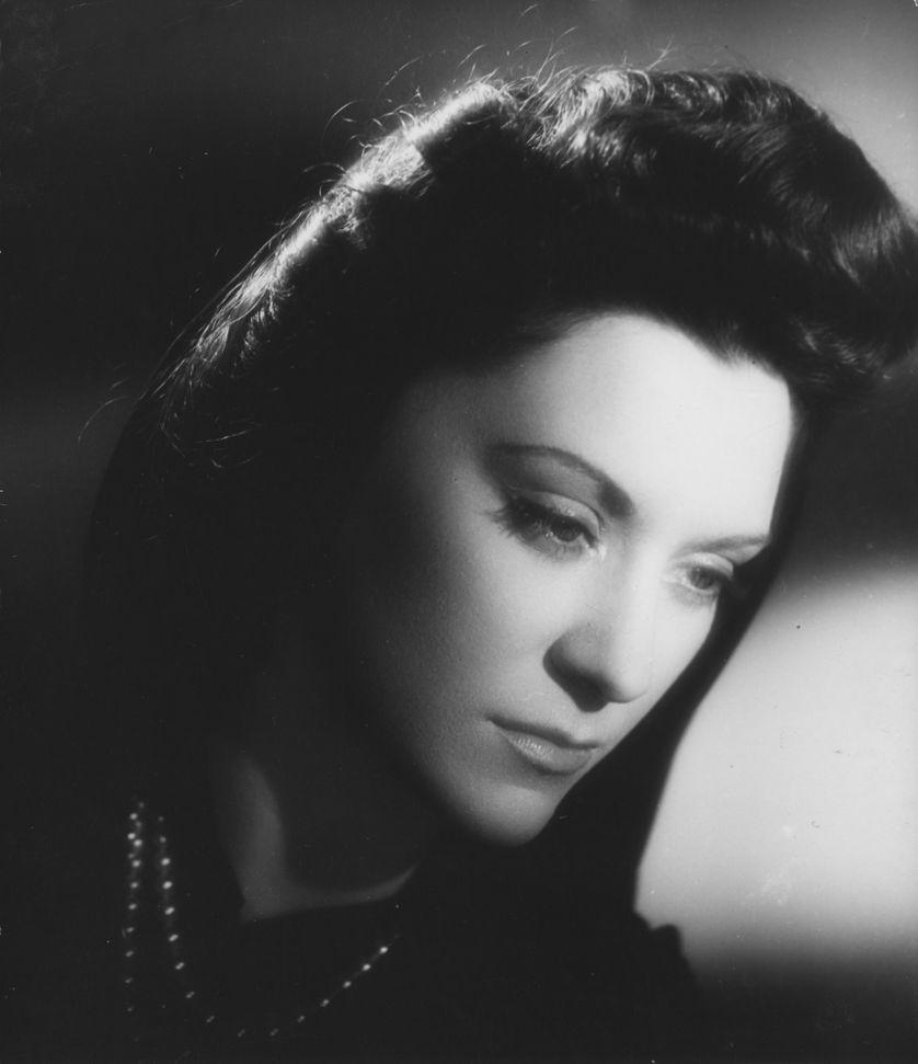 La tragédienne Maria Casarès.