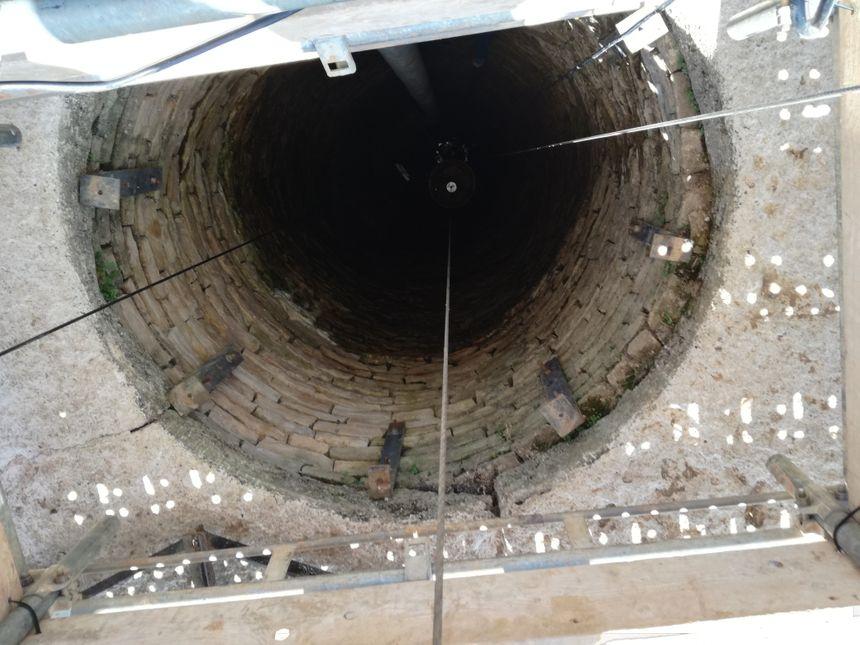23 mètres de puits.