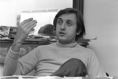 28 décembre 1979, le journaliste Jean-François Bizot, à la rédaction d'Actuel à Paris.