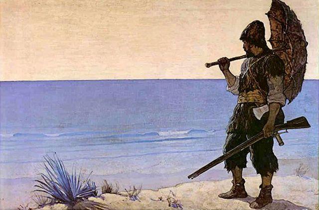 Robinson Crusoé, illustration de 1920