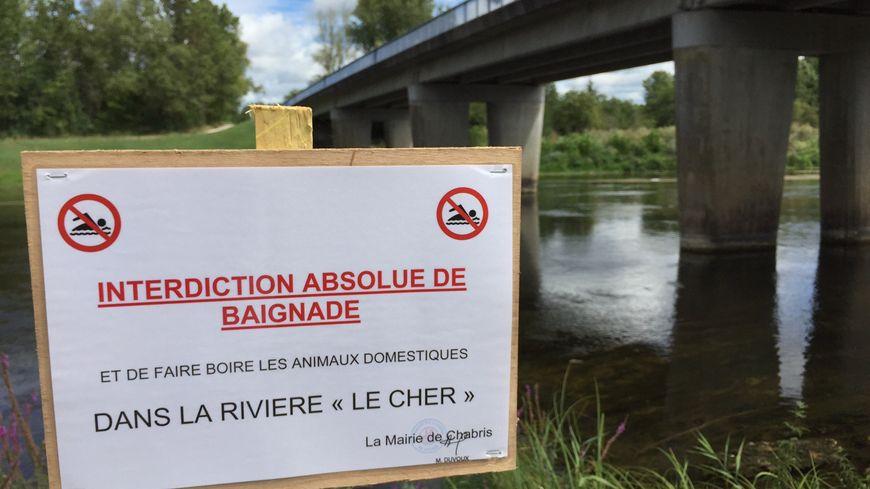 La mairie de Chabris, dans l'Indre, interdit la baignade sur sa plage.