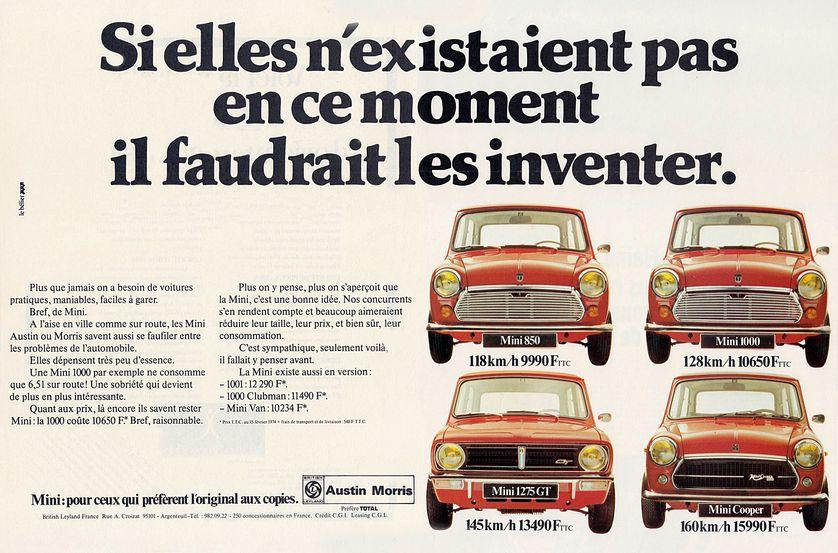 Une publicité automobile, en 1974