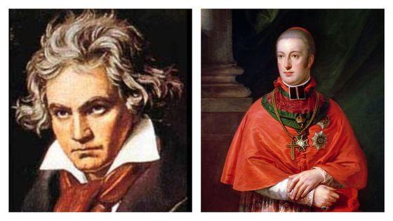 Ludwing van Beethoven / Portrait de l'Archiduc Rodolphe d'Autriche par Johann Baptist von Lampi the Elder