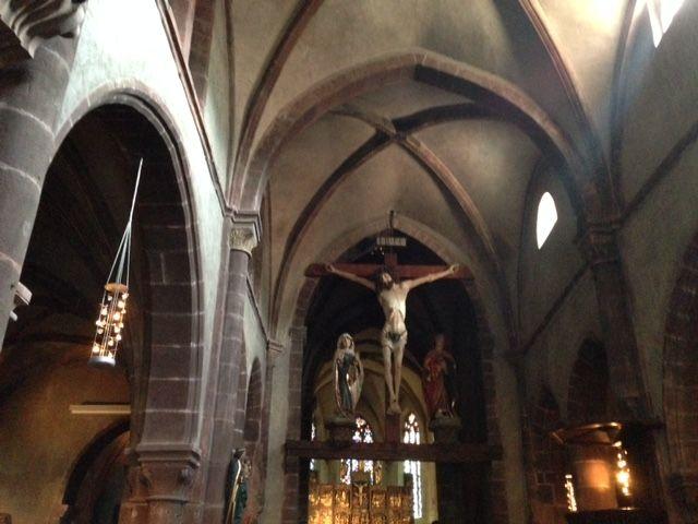 L'intérieur de l'Eglise Sainte-Croix