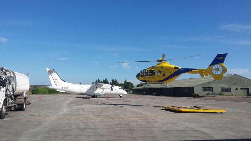 L'hélicoptère du SAMU 21 à l'aéroport de Dijon-Bourgogne