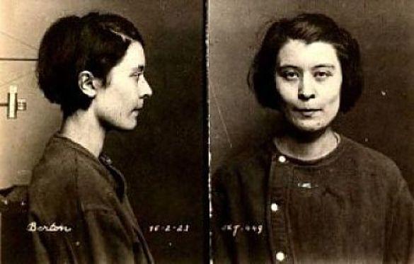 Germaine Bertron, en 1923, dans les fichiers judiciaires.