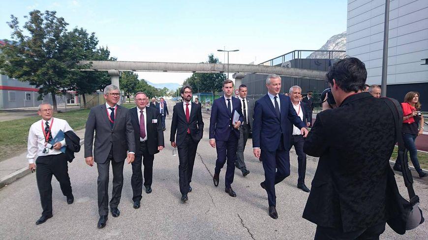 Devant de nombreux chefs d'entreprise le ministre a réaffirmé son attachement au monde de la finance.