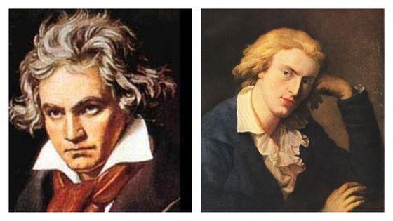 Ludwig van Beethoven / Friedrich von Schiller (Portrait de Friedrich Schiller par Anton Graff, 1791)